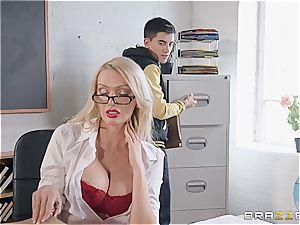 kinky Jordi boned by milf teacher