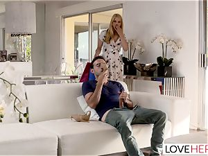 LoveHerFeet Caught jerking Off By crazy Stepmom