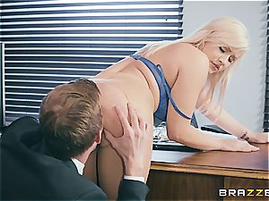 Kylie Page plows her boss